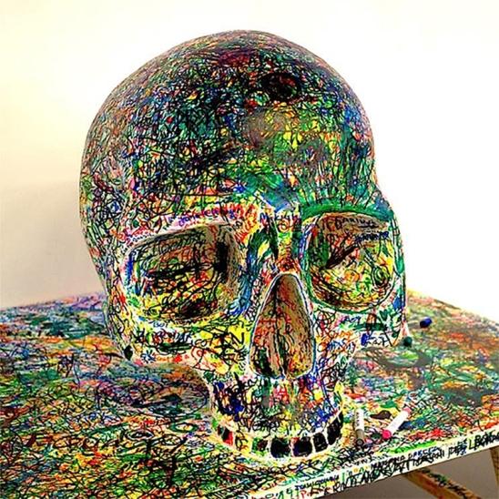 Fernando J. Ribeiro_Skull Sculpture_2000