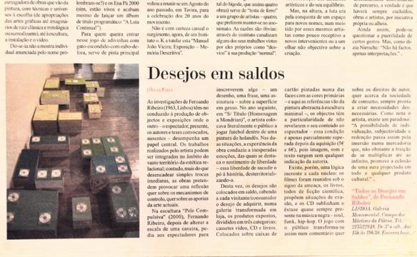 Fernando J. Ribeiro_Todos os Desejos em Saldos_2004