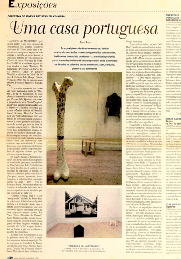 Fernando J. Ribeiro_Femur sculpture_Óscar Faria_Jornal Público_1998