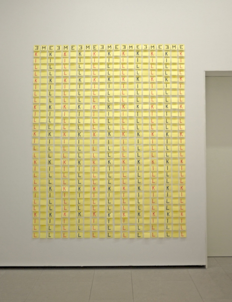 FErnando J. Ribeiro_Kill Me_post-it_2001