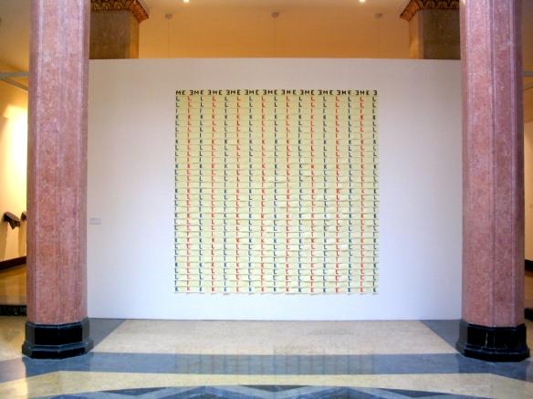 Fernando J. Ribeiro_post-it_sculpture_kill me_2001
