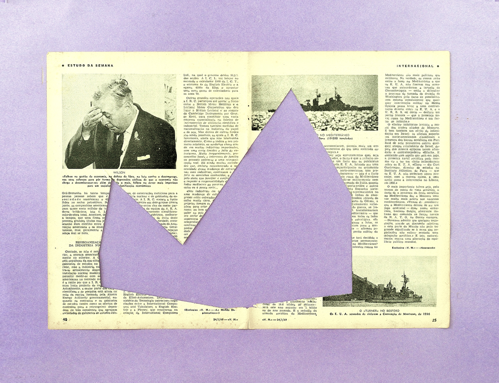 Fernando J. Ribeiro_Buried House:newspaper_collage_2017