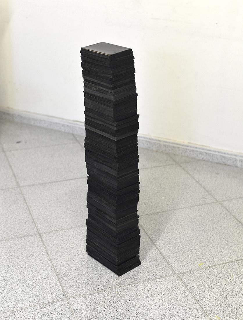Fernando J. Ribeiro_book_sculpture_all my diaries_blocks_2020