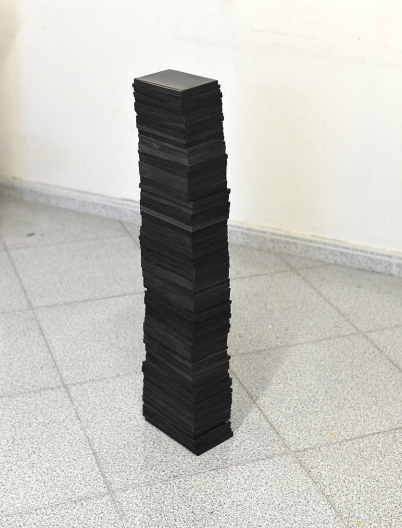 Fernando J. Ribeiro_book_sculpture_all my diaries_blocks_2020