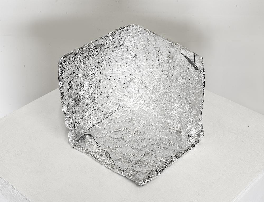 Fernando J. Ribeiro_cube sculpture_aluminum_2019