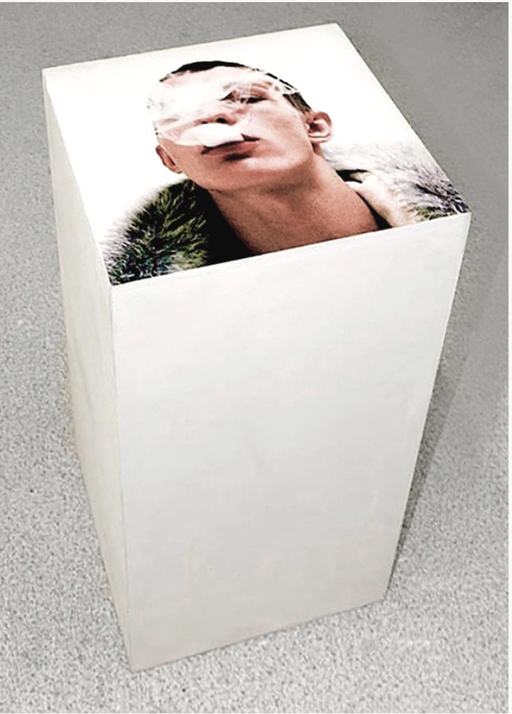 Fernando J. Ribeiro_Smoke_plinth sculpture_2014