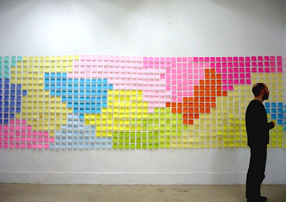 Fernando J. Ribeiro_post-it_Panorama_2009