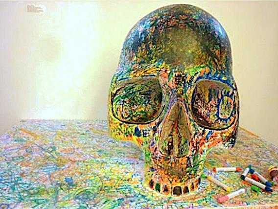 Fernando J. Ribeiro_Skull_grafitti_2001