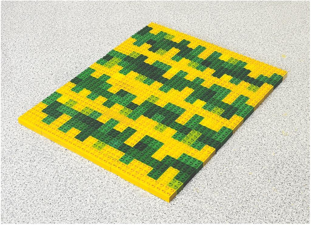 Fernando J. Ribeiro_Home Carpet. Green Model_LEGO sculpture_2021